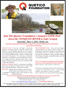Quetico Foundation Canoe Day 2015 Nonquon River(2)