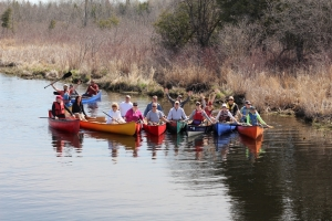 Quetico Foundation Canoe Day 2015 group photo on the Nonquon River!