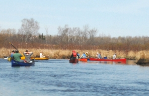 Canoe Day participants on the water along the beautiful Nonquon River.