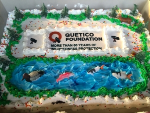 An incredible Quetico Foundation, 60th anniversary wilderness protection cake  photo credit: Torie Gervais