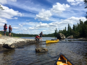 Learning canoe and camp safety skills