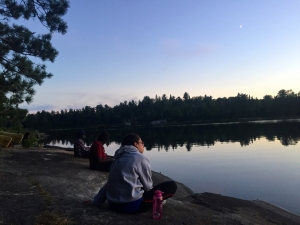 Reflections of the lake and forest - enjoying a beautiful Quetico sunset