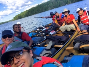 A great group photo on one of the truely most epic 2016 Quetico canoe trips, Credit: Torie Gervais