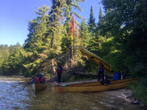 Epic canoe trip photo: classic  wilderness canoe and portage style