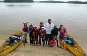 2016 RWYP team headed out into a wilderness canoe camping excursion in Quetico. Credit: Torie Gervais