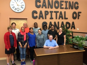 Getting a great official welcome to Atikokan, The Canoeing Capital of Canada