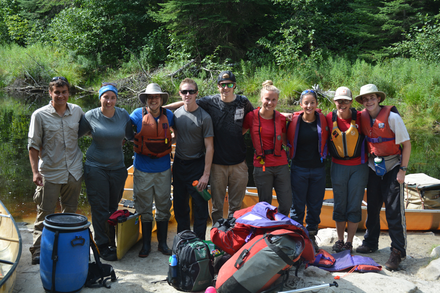 A fantastic group photo, Summer Student Research Group and Biology Interns, Credit: Hannah Koslowsky
