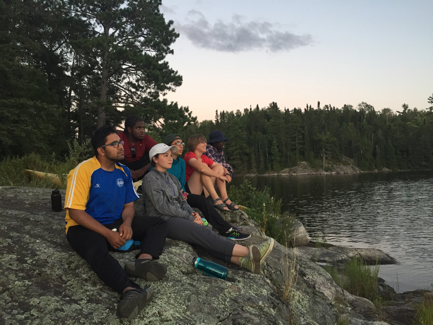 Finishing photo: Enjoying one of the final sunsets along Quetico's shores